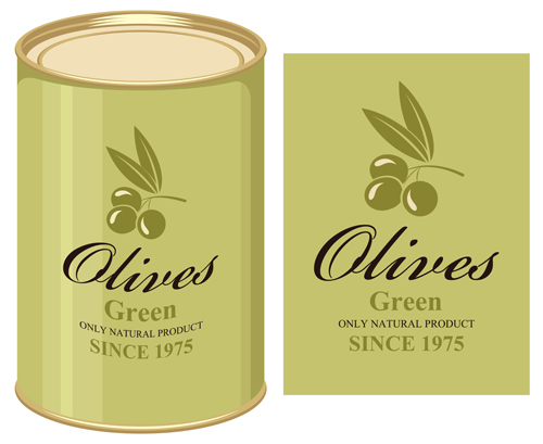 Olives packaging labels Vector EPS 02