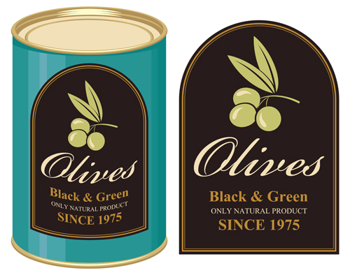 Olives packaging labels Vector EPS 03