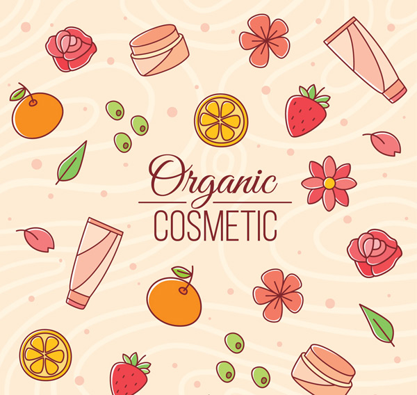 Organic cosmetics element Vector AI