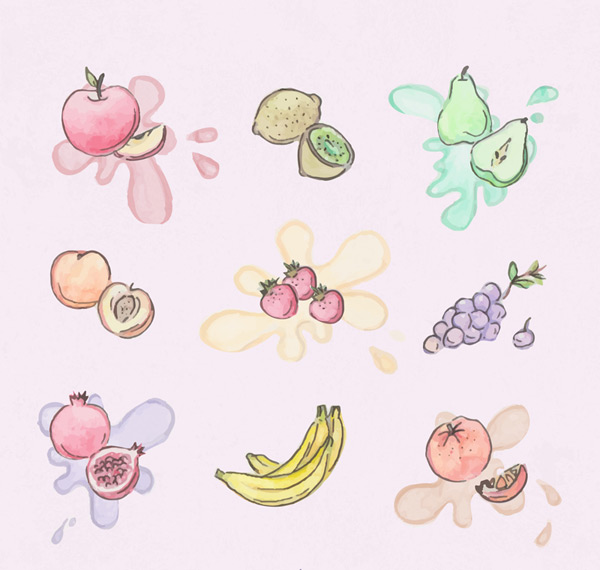 Painting fruit design Vector AI