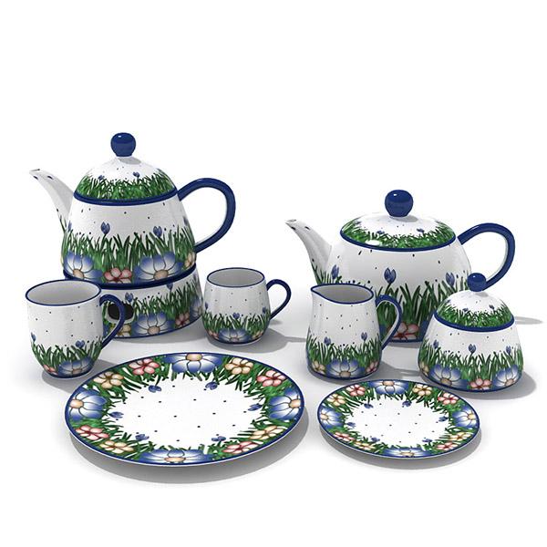 Pastoral Style Tea Set 3D Model