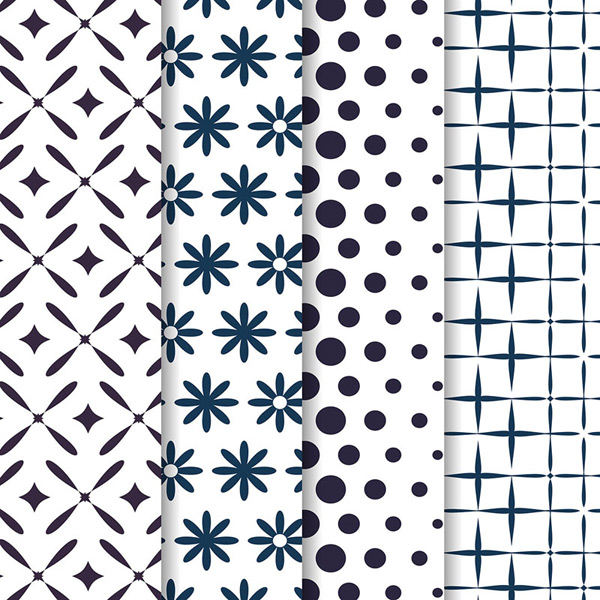 Pattern, seamless backgrounds vector