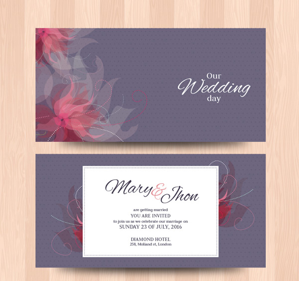 Pattern wedding cards Vector AI