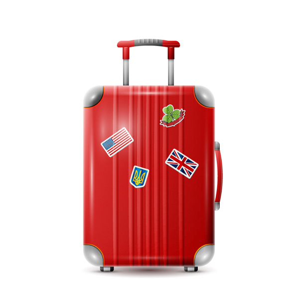 Red suitcase Vector EPS