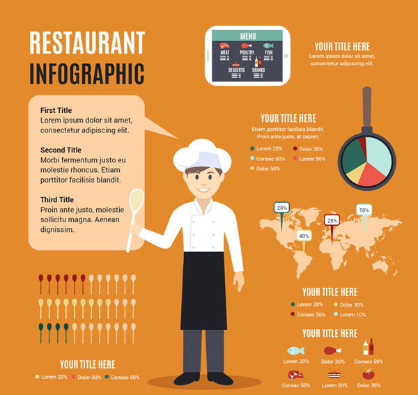 Restaurant business information Vector AI