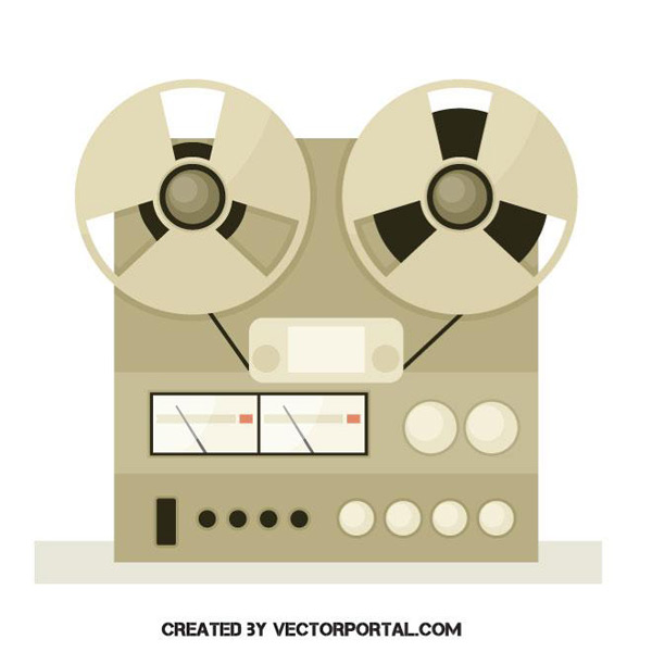 Retro tape recorder Vector AI