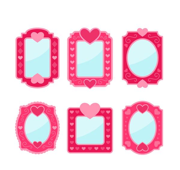 Rose mirror design Vector AI