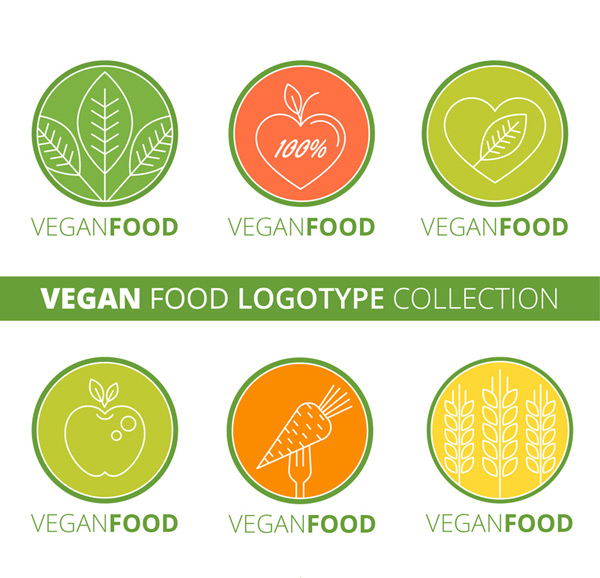 Rounded vegetarian symbol Vector AI