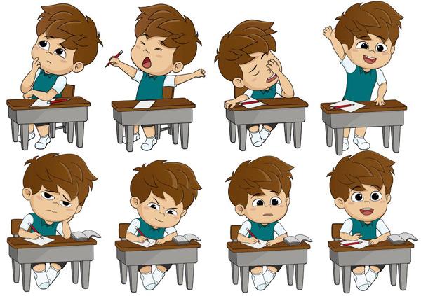 School cartoon children Vector EPS
