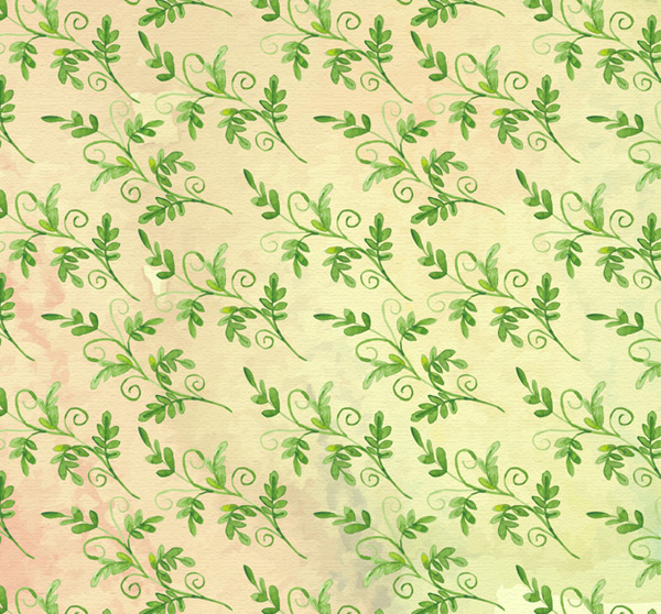 Seamless green leaves background Vector AI