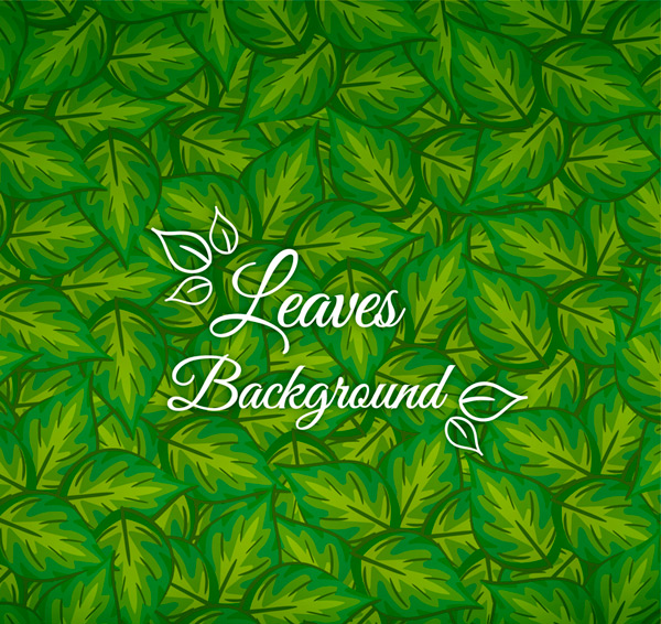 Green Leaves Background Vector AI