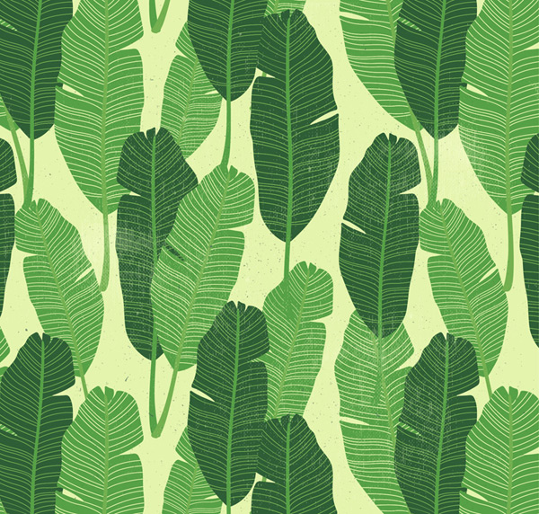Seamless leaves background Vector AI 01