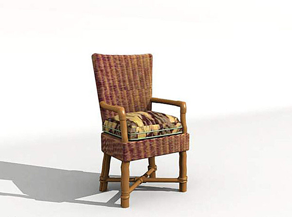 Single Chair 3D Model 01