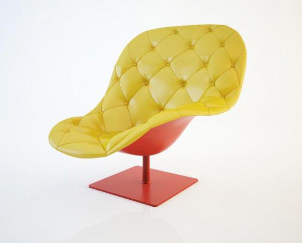 Single Sofa Seat 3D Model