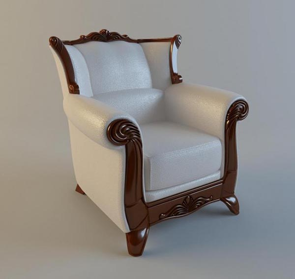 Single Sofa Seats 4 3D Model