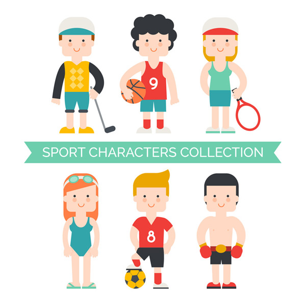 Sports character dress up Vector AI