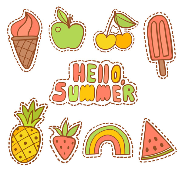 Summer patch badge Vector AI