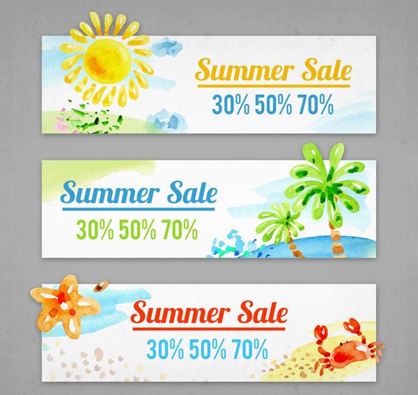 Summer promo banner Vector AI 02