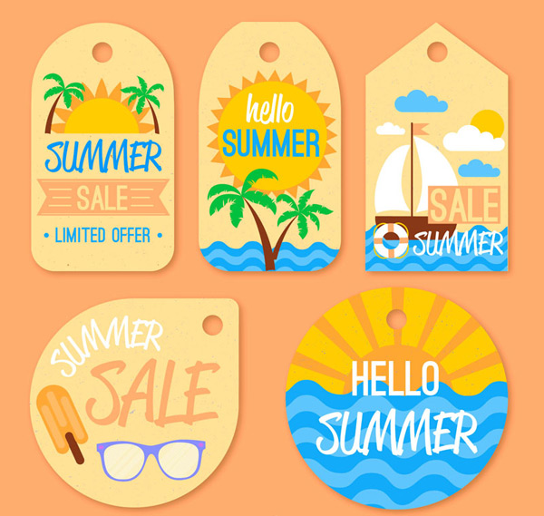 Summer promotion tag Vector AI