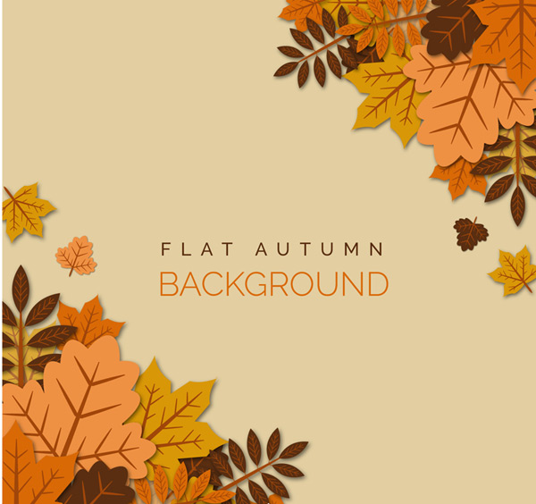 Superimposed in the autumn leaves background Vector AI