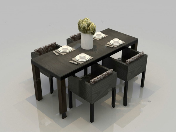 Table For Four 3D Models