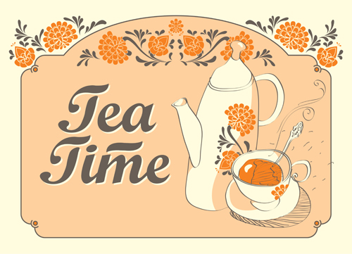 Tea culture illustrations Vector EPS