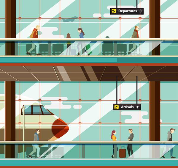 Terminal illustration Vector AI