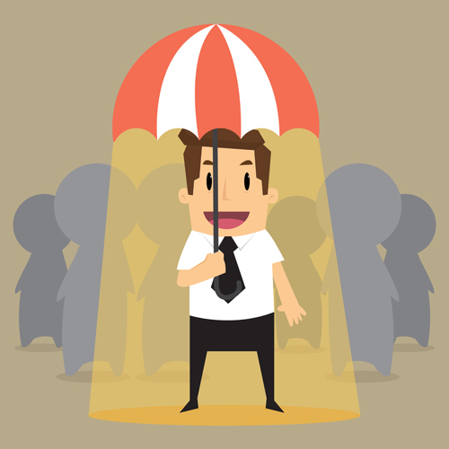The umbrella business people Vector EPS
