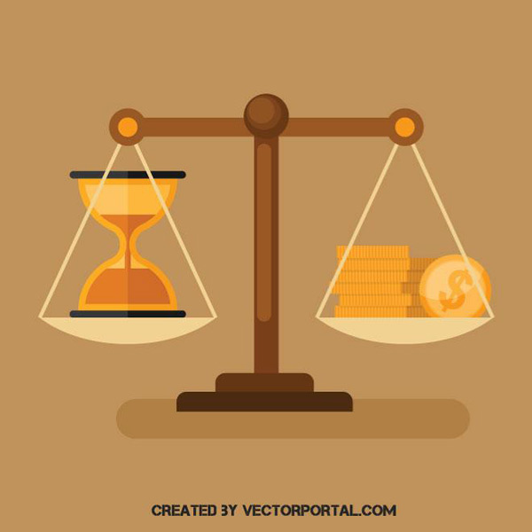 Time and money to Illustrator Vector EPS
