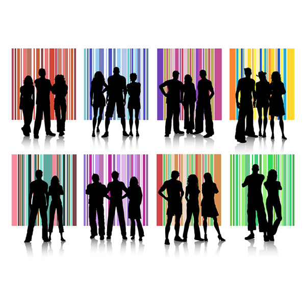 Trendy silhouettes Vector EPS