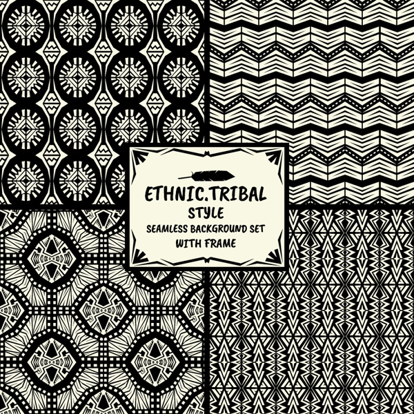 Tribal design seamless backgrounds vector