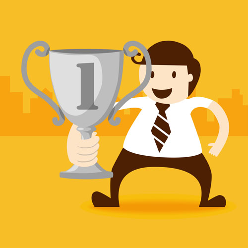 Trophy of business people Vector EPS