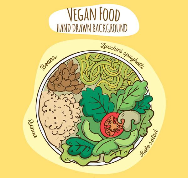 Vegetarian platter top Vector AI