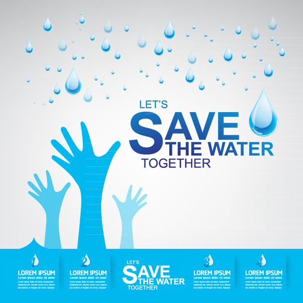 Water conservation information Vector EPS