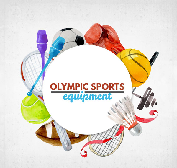 Water stained the Olympic equipment Vector AI