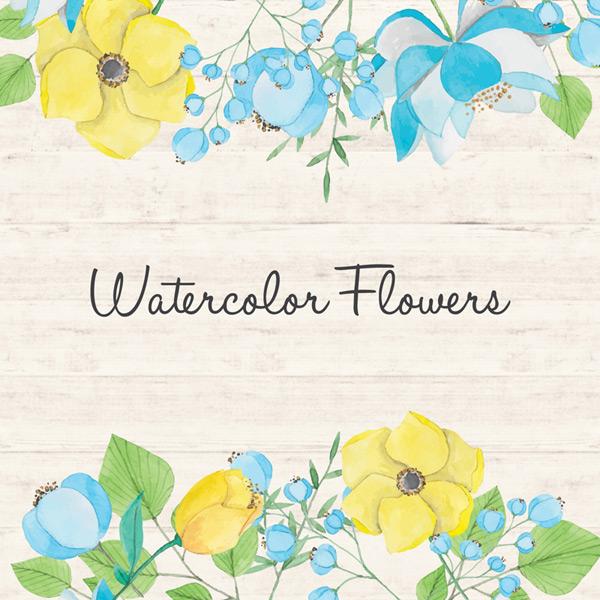 Watercolor flower background Vector EPS