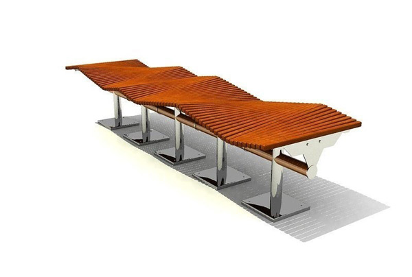 Waves Of Public Seating 3D Model