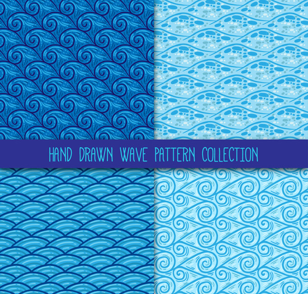 Waves seamless pattern background Vector AI