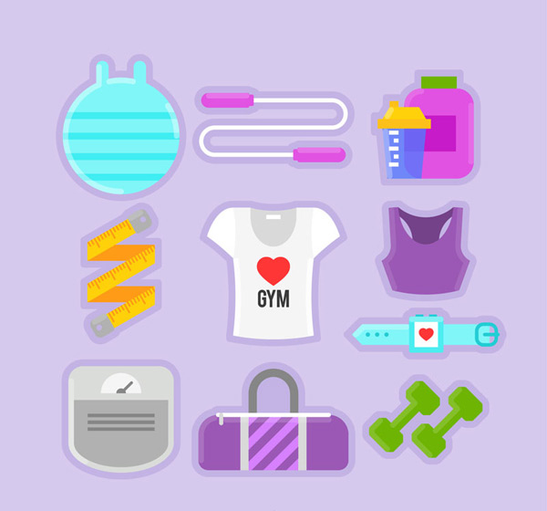 Women's fitness products Vector AI
