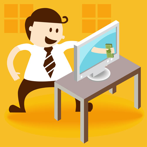 Workplace character design Vector EPS