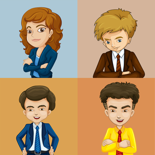 Workplace character Vector EPS