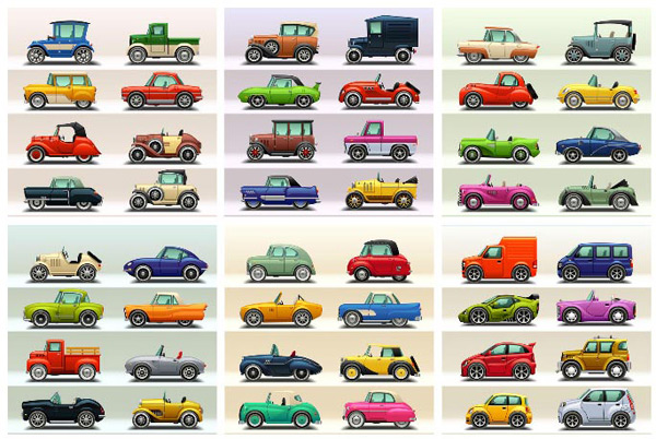 Antique classic car Vector EPS