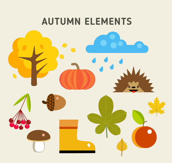 Autumn color element Vector AI