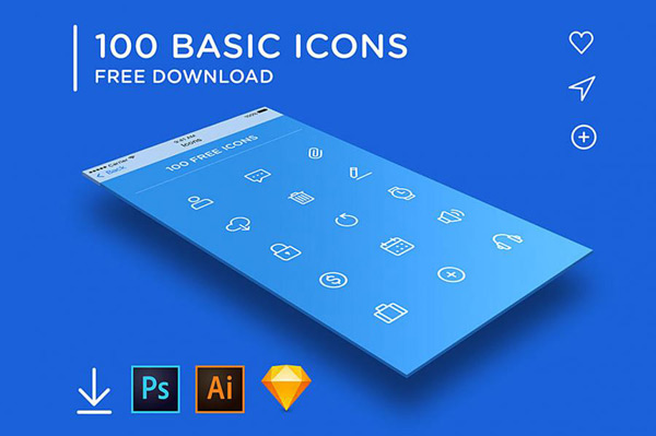 Base wireframe icons Vector AI