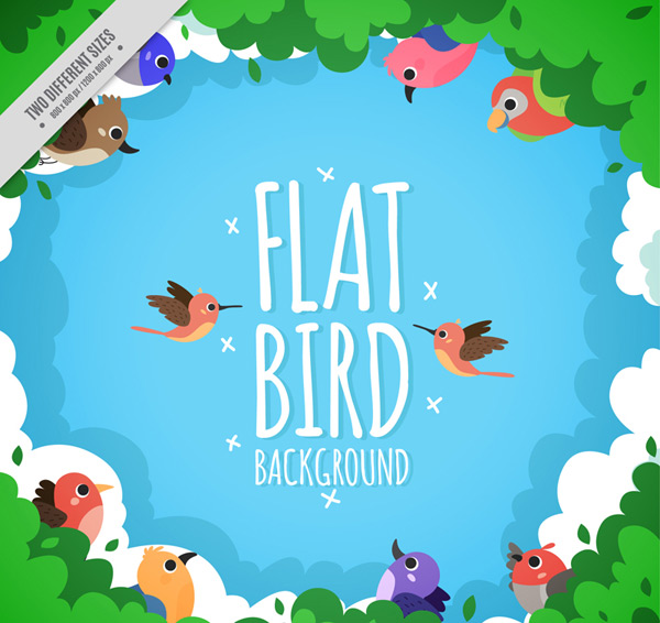Cartoon bird background Vector AI