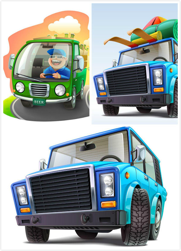 Cartoon car Vector EPS