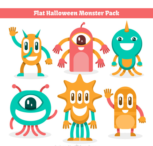 Cartoon Halloween Monster vector EPS