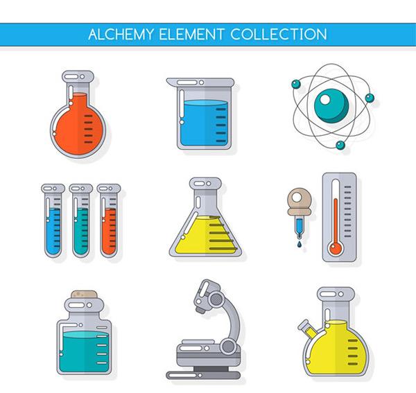 Chemical studies instruments elements Vector AI