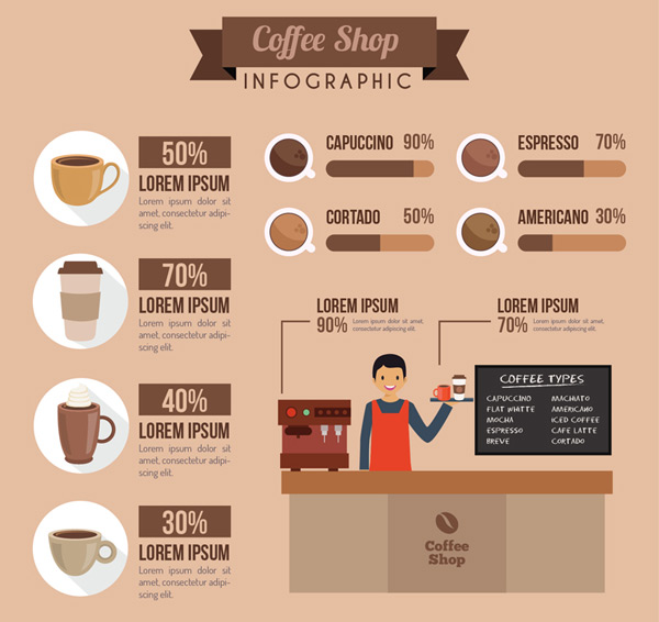 Coffee shop business information Vector AI 01