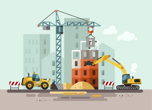 Construction illustrations Vector EPS